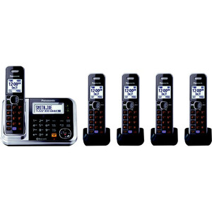 Link2cell Bluetooth Phone Cordless W/ Answering Machine 5handset / Mfr. No.: Kx-Tg7875s