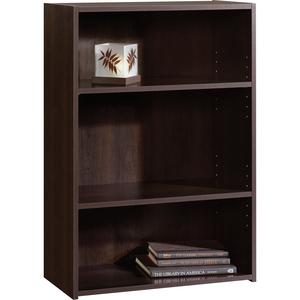 Sauder® Beginnings® Bookcase 3-Shelf Cinnamon Cherry Finish