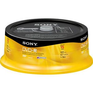 15pk DVD-R 16x 4.7gb Spindle / Mfr. No.: 15dmr47sp