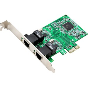 SD-Pex24033 10/100/1000 Gigabit Enet PCIe 2port X1 Network Card / Mfr. No.: SD-Pex24033