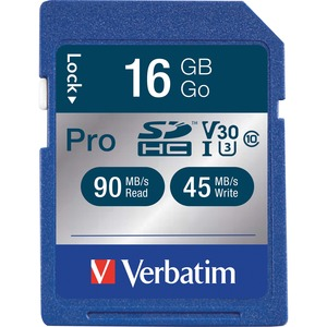 Verbatim 16GB Secure Digital High Capacity Pro 600x Memory Card Class 10 / Mfr. No.: 98046