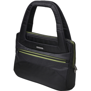 Ladies Tote For Ultrabook Black W/ Green / Mfr. No.: K62588am