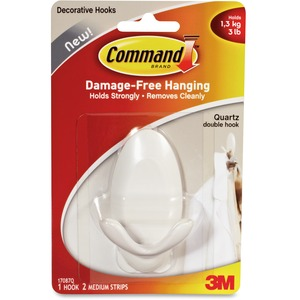 Command™ Adhesive Reusable Hook White