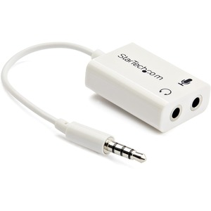 Startech 3.5mm 4 Position to 2x 3 Position 3.5mm Headset Splitter Adapter M/F - White / Mfr. No.: Muyhsmffadw