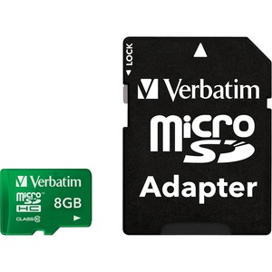 8gb Microsdhc Class 10 F/Tablet Memory Card Uhs-1 Green / Mfr. No.: 44042