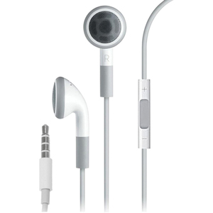 4XEM Earphones with Remote and Mic for iPhone/iPod/iPad - White / Mfr. No.: 4xappleear