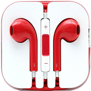 4XEM Earphones For iPhone/iPod/iPad - Red / Mfr. No.: 4xapplearpodrd