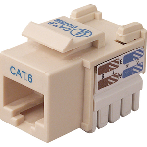 Cat6 Keystone Jack 568a/568b Ivory Channel Certified / Mfr. No.: R6d026-Ab6-Ivo