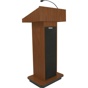 Executive Sound Column Lectern Mahogany 50w Amp 2 Speakers Mic / Mfr. No.: S505-Mh