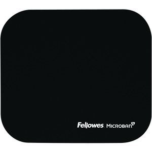 Fellowes Microban Mouse Pad - Black / Mfr. No.: 5933901