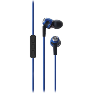 In Ear Headphone W/ Mic 3.5mm Vol For IPhone Blue / Mfr. No.: Ath-Ck323ibl