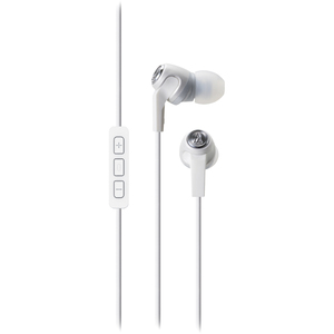 Audio Technica In-Ear Headphones W/ Mic - White / Mfr. No.: Ath-Ck323iwh