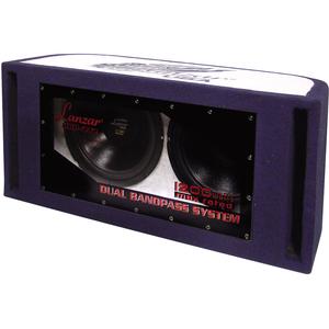 Lanzar 1200 Watt Dual 12'' Bandpass Subwoofer System