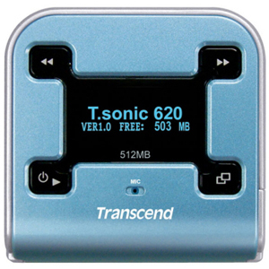 Transcend T.sonic 620 512MB Flash MP3 Player