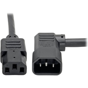 10ft 14awg 15a 100v-250v C13 To Left Angle C14 Power Cord / Mfr. No.: P005-010-14la