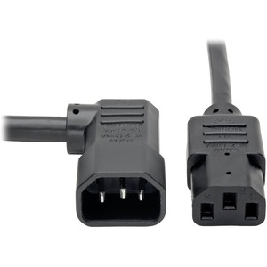10ft 14awg 15a 100v-250v C13 To Right Angle C14 Power Cord / Mfr. No.: P005-010-14ra