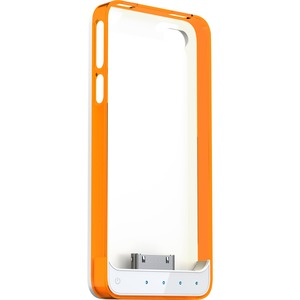 Battery Case For IPhone 4/4s Mfi White Base and Orange/Clear F / Mfr. No.: Ap4-15co