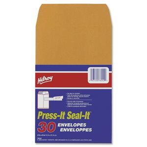 """Hilroy Press it-Seal it® Kraft Envelopes 5-7/8"""" x 9"""" 30/pkg"""