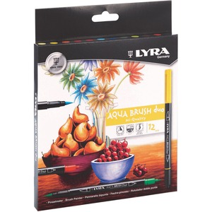 Lyra Aqua Brush Duo Pens Assorted Colours 12/pkg