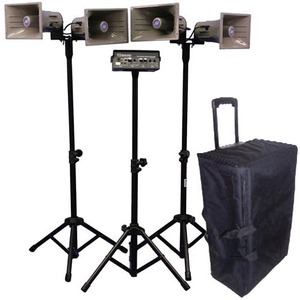 Wl Quad Horn Hailer Kit Amp Horn Speakers TriPods Case / Mfr. No.: Sw660