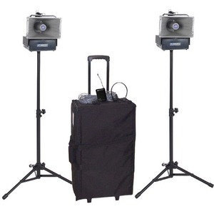 Deluxe Wireless Half-Mile Hailer Kit Wireless Speaker Deluxe TriPods Cases / Mfr. No.: Sw642