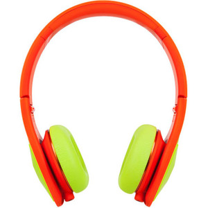 Monster Cable DNA On-Ear Headphones Yellow on Neon Orange
