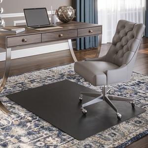 "Deflecto® Black Chairmats 45"" x 53"""