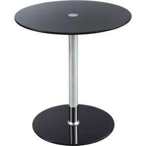 """Safco® Glass Accent Tables 17-1/2"""" Diameter x 19"""" H Black"""