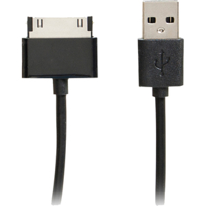4xem 6ft 30-Pin To USB 2.0 Cable For iPhone/iPod/iPad -Black / Mfr. No.: 4xu2appl6ftbk