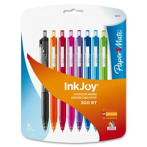 Paper Mate® InkJoy® 300 RT Retractable Ball Point Pens Medium Point Assorted Fashion Colours 8/pkg