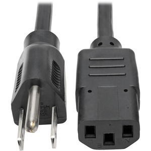 1ft Power Cord Adapter 18awg 10a 125v 5-15p To C13 / Mfr. No.: P006-001
