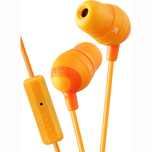 JVC Marshmallow Earbuds with Microphone And Remote - Orange / Mfr. No.: Hafr37d