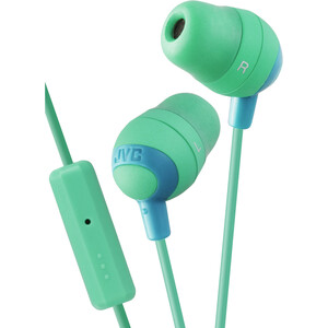 JVC Marshmallow Earbuds with Microphone And Remote - Green / Mfr. No.: Hafr37g