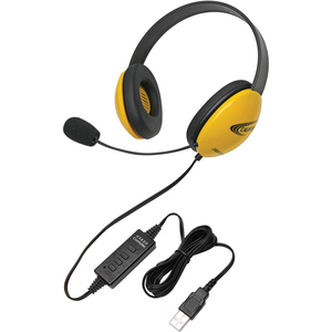 Califone Listening First Stereo Headset - Yellow / Mfr. No.: 2800yl-USB