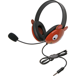Califone Stereo Headset Bear W/ Mic 3.5mm Plug Via Ergoguys / Mfr. No.: 2810-Tbe