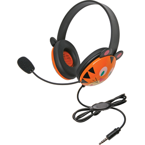 Califone Stereo Headset Tiger W/ Mic 3.5mm Plug Via Ergoguys / Mfr. No.: 2810-Tti