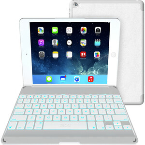 Zaggkeys Folio White W/ Wht Kb For Apple IPad Air / Mfr. No.: Zkfhfwhlit105