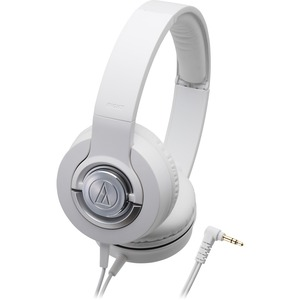 Audio Technica Solid Bass Dynamic Headphones - White / Mfr. No.: Ath-Ws33xwh
