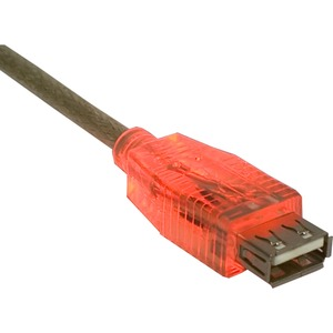 10ft USB A M/F Translucent Extension Cable With LED Red / Mfr. No.: Cc2210c-10rdl