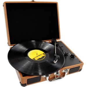 Retro Belt-Drive Turntable With USB-To-PC Connection Wood Grain / Mfr. No.: Pvtt2uwd