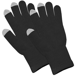 Black Capacitive Touch Screen Knit Gloves / Mfr. no.: AMZ92804