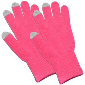 Pink Capacitive Touch Screen Knit Gloves / Mfr. no.: AMZ92805