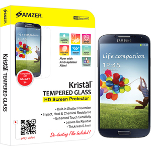 Kristal Tempered Glass Screen Protector Samsung Galaxy S4 / Mfr. No.: Amz96702