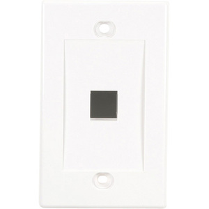 Single Gang White 1port Wallplate Value Line / Mfr. No.: Wpwh-1