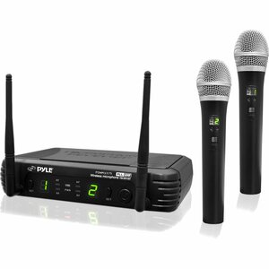 2ch Pro Uhf Wireless Handheld Mic Syst W/ Selectable Frequencies / Mfr. No.: Pdwm3375