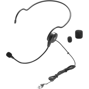 Cardioid Headset Mic 3.5mm W/ Flexible Wired Boom / Mfr. No.: Plmsh34