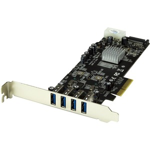 4port USB 3.0 PCIe Controller Card With Dual Bus and Uasp / Mfr. No.: PexUSB3s42v