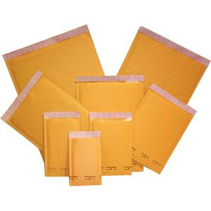 "Edge® Cushioned Mailers 6-1/2"" x 9"" Golden Kraft 10/pkg"