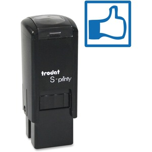 Trodat® S-Printy 4921 Self-Inking Mini Stamp Thumbs Up/Thumbs Down Blue