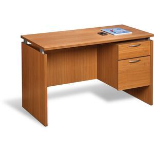 "Star Mira Single Pedestal Desk 48""W x 24""D x 30""H Rustic Cherry"